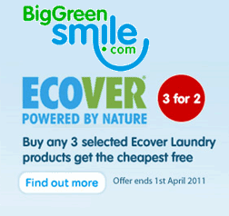 March Ecover promotion at Big Green Smile