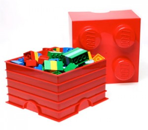 All Up And On: Lego storage bricks