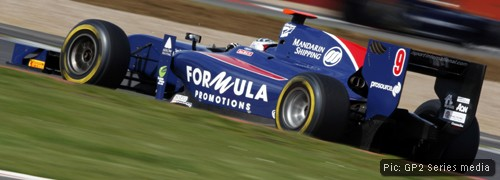 Sam on track at Silverstone. Pic: GP2 Series